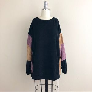 Cherish Chenille Oversized Color Block Sweater